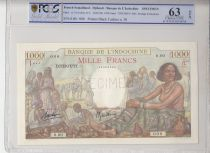 Djibouti 1000 Francs Scène de Marché - 1938 Spécimen PCGS 63 OPQ n°38