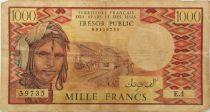 Djibouti 1000 Francs Trains - Camels -  1975 - Serial E.1 - F