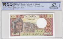 Djibouti 1000 Francs Trains - Camels -  1991 - Serial  T.004 - PCGS 67 OPQ