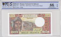 Djibouti 1000 Francs Trains - Chameaux - 1991 - Série T.004 - PCGS 66 OPQ