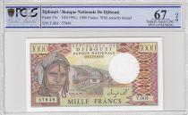 Djibouti 1000 Francs Trains - Chameaux - 1991 - Série T.004 - PCGS 67 OPQ