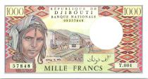Djibouti 1000 Francs Trains - Chameaux - 1991