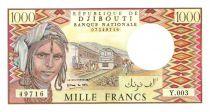 Djibouti 1000 Francs Trains - Chameaux