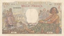 Djibouti 1000 Francs Woman seated, market - 1938 Serial B.1