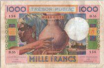 Djibouti 1000 Francs Womand and jug - 1952 - B.55