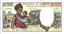 Djibouti 10000 Francs Femme et enfant - 1984