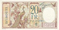 Djibouti 20 Francs au Paon ND (1936) - Spécimen - Neuf