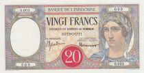 Djibouti 20 Francs au Paon ND (1938) à plats rouges - Spécimen