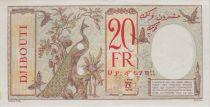 Djibouti 20 Francs femme ND à plats rouges perf. - PCGS 63 UNC