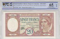 Djibouti 20 Francs femme ND1932 - PCGS 65 UNC OPQ