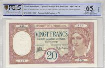 Djibouti 20 Francs Woman ND - PCGS  65 UNC OPQ