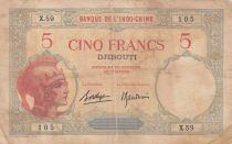 Djibouti 5 Francs ND1927 - Femme casquée