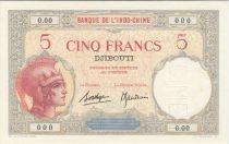 Djibouti 5 Francs Walhain - 1938 Spécimen 0.00