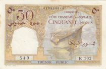 Djibouti 50 Francs Corail - Palmier - 1952 - SUP - P.25