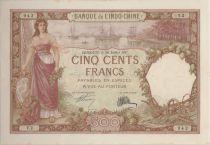 Djibouti 500 Francs 1927 femme et bateau - PCGS MS 63