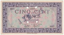 Djibouti 500 Francs Palestinian printing - 1945 Specimen T.1 - XF to AU - P.17