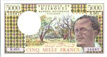 Djibouti 5000 Francs Berger, forêt - Port - 1979