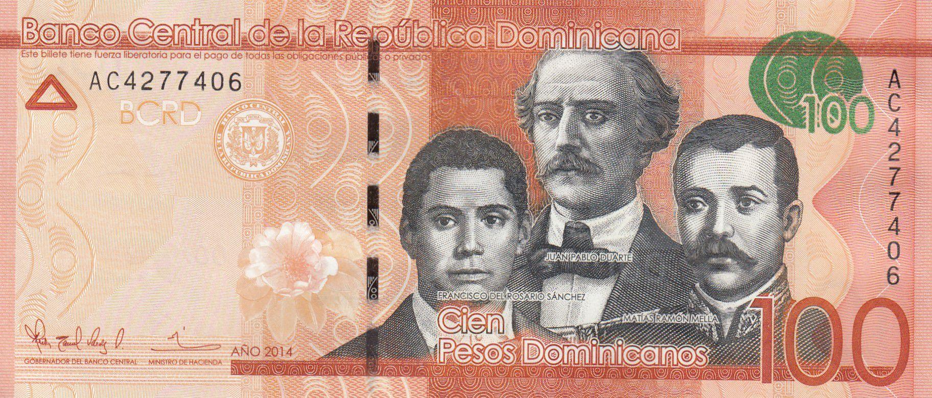 Dominicaine Rép. 100 Pesos Duarte, Sanchez, Mella - Puerta del Conde 2014 - Neuf - P.190