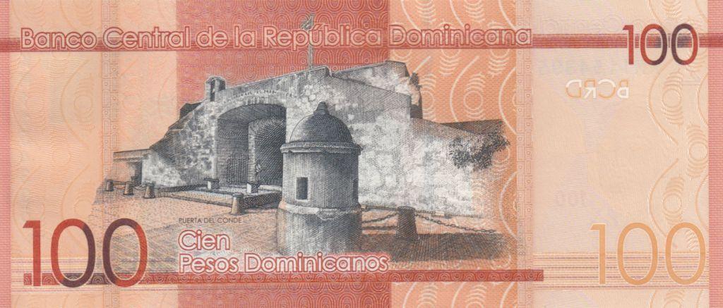 Dominicaine Rép. 100 Pesos uarte, Sanchez, Mella - Puerta del Conde 2017