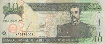 Dominicaine République 10 Pesos Oro - M. R. Mella - Altar la Patria - 2003