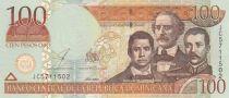 Dominicaine République 100 Pesos 2003 3 personnages, Puerta del Conde