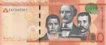 Dominicaine République 100 Pesos Dominicanos, Duarte, Sanchez, Mella - Puerta del Conde 2015