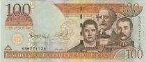 Dominicaine République 100 Pesos Oro Oro, Duarte, Sanchez, Mella