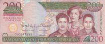 Dominicaine République 200 Pesos Dominicanos - Femmes - Immeuble - 2013