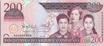 Dominicaine République 200 Pesos Dominicanos - Les Soeurs Mirabal - 2007