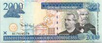 Dominicaine République 2000 Pesos Oro Oro, Prud´Homme, Reyes