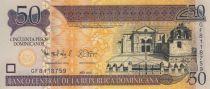 Dominicaine République 50 Pesos Dominicanos Dominicanos, Cathédrale - Basilique - 2012
