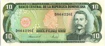 Dominican Rep. 10 Pesos Oro, Ramon Matias Mella - 1988