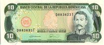 Dominican Rep. 10 Pesos Oro, Ramon Matias Mella - 1990
