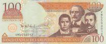 Dominican Rep. 100 Pesos - Duarte, Sanchez, Mella - 2010 - UNC - P.177c
