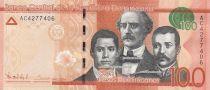 Dominican Rep. 100 Pesos Duarte, Sanchez, Mella - Puerta del Conde 2014 - UNC - P.190