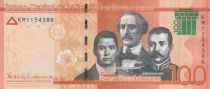 Dominican Rep. 100 Pesos Duarte, Sanchez, Mella - Puerta del Conde 2017