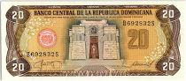 Dominican Rep. 20 Pesos Oro, Altar de  la Patria - 1987