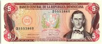 Dominican Rep. 5 Pesos Oro, Juan Sanchez Ramirez - 1990