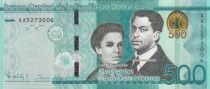 Dominican Rep. 500 Pesos S. U. de Enriquez, P. H. Zurena - Central bank 2014 - UNC - P.192