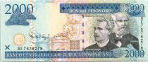 Dominican Republic 2000 Pesos Oro Oro, Prud´Homme, Reyes