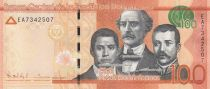 Dominikanische Republik 100 Pesos Dominicanos, Duarte, Sanchez, Mella - Puerta del Conde 2015