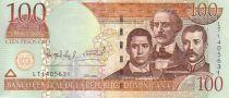 Dominikanische Republik 100 Pesos Oro Oro, Duarte, Sanchez, Mella - 2004