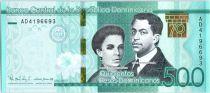Dominikanische Republik 500 Pesos S. U. de Enriquez, P. H. Zurena - 70 years of Central bank 2017