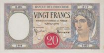 Dschibuti 20 Francs Woman ND, red circle w/perf. - PCGS 63 UNC