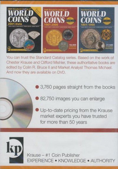DVD 3 VOL. Standard Catalog of World Coins 2008