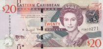East Caribbean States 20 Dollars Elizabeth II - 2015 - P.53b - UNC
