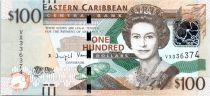 East Carribean States 100 Dollars Elisabeth II - Sir A. Lewis, Central Bank - 2016