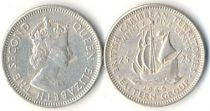 East Carribean States 25 Cents - Sailboat - 1965