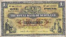 Ecosse 1 Pound - 01-12-1956 - Figures allégoriques, bâtiment banques - Série AM