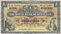 Ecosse 1 Pound - 01-12-1958 - Figures allégoriques, bâtiment banques - Série AQ